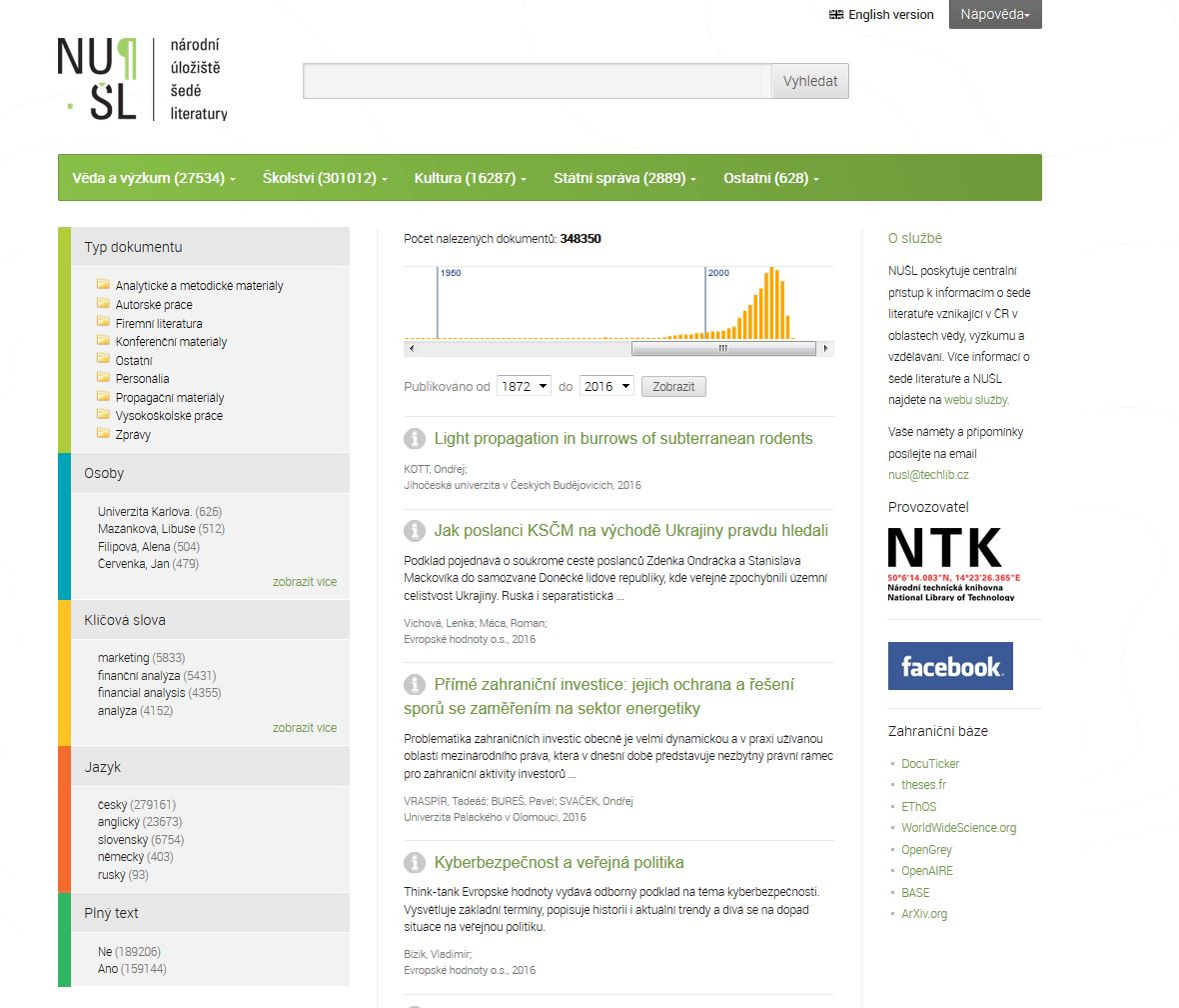 NUSL search engine